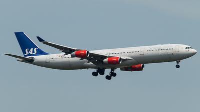 OY-KBC - Airbus A340-313X - Scandinavian Airlines (SAS)