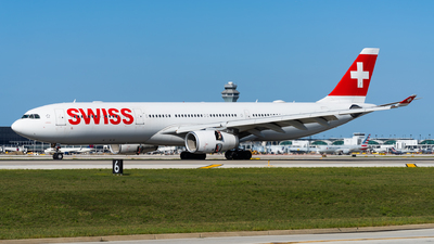 A picture of HBJHK - Airbus A330343 - Swiss - © Haocheng Fang