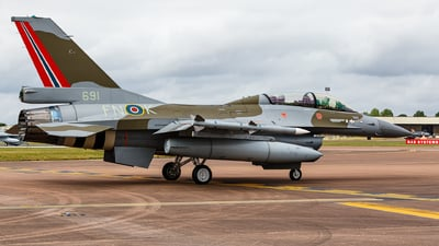 691 - General Dynamics F-16BM Fighting Falcon - Norway - Air Force