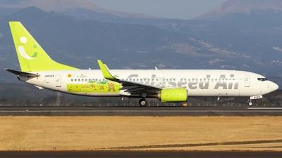 A picture of JA812X - Boeing 73786N - Solaseed Air - © Koki.Ishida