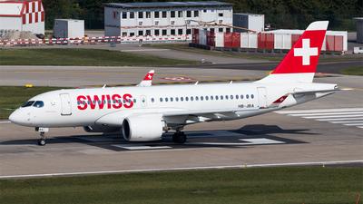 A picture of HBJBA - Airbus A220100 - Swiss - © Melanie Niedermeier
