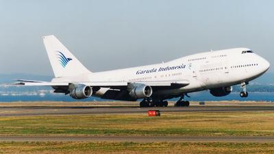 VH-EBW - Boeing 747-338 - Garuda Indonesia (Qantas)