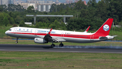 A picture of B1677 - Airbus A321231 - Sichuan Airlines - © baobao723