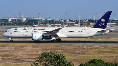 A picture of HZAR12 - Boeing 7879 Dreamliner - Saudia - © songxiuming