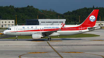 A picture of B1881 - Airbus A320214 - Sichuan Airlines - © Zihao Wang ~ AHaoo