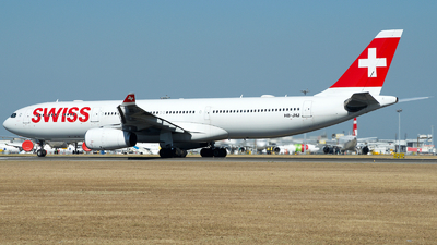 A picture of HBJHJ - Airbus A330343 - Swiss - © a.m.