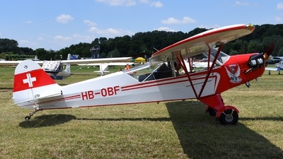 HB-OBF - Piper J-3C-65 Cub - Private