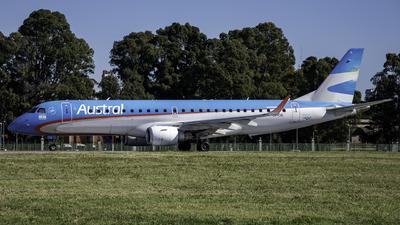 A picture of LVCIG - Embraer E190AR - Aerolineas Argentinas - © Agustin LV-ASP