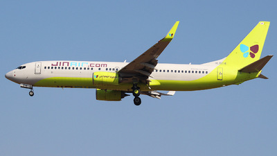 A picture of HL8014 - Boeing 7378SH - Jin Air - © KIM MINCHAN