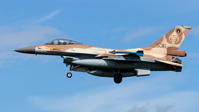 536 - General Dynamics F-16C Barak   - Israel - Air Force