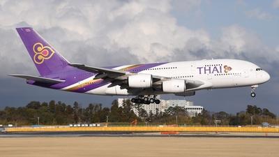 A picture of HSTUA - Airbus A380841 - Thai Airways - © Akihiko Takahashi