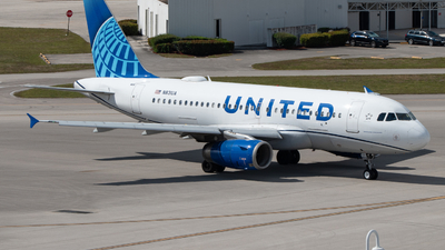 A picture of N831UA - Airbus A319131 - United Airlines - © Matthew Calise