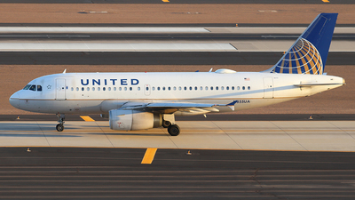 A picture of N855UA - Airbus A319131 - United Airlines - © Sam Thomas