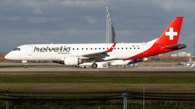 A picture of HBJVT - Embraer E190AR - Helvetic Airways - © James Dinsdale