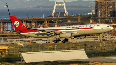A picture of B8690 - Airbus A330343 - Sichuan Airlines - © Terry_Chen