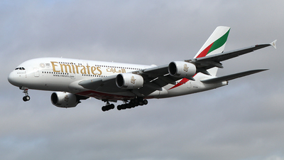 A picture of A6EUM - Airbus A380842 - Emirates - © Ferenc Kolos