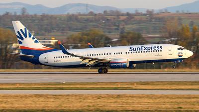 A picture of DASXV - Boeing 73786Q - SunExpress - © Johannes Reichert