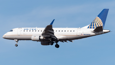 A picture of N639RW - Embraer E170SE - United Airlines - © Evan Dougherty