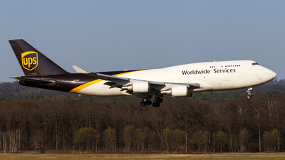 A picture of N579UP - Boeing 74745E(BCF) - UPS Airlines - © Severin Hackenberger