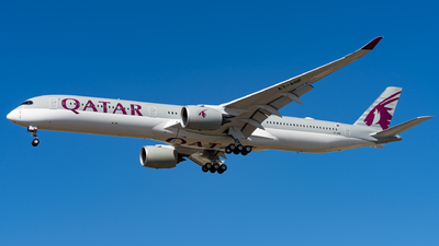 A picture of A7ANF - Airbus A3501041 - Qatar Airways - © Haocheng Fang