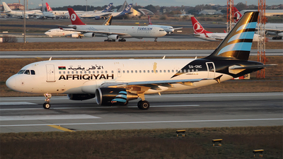 5A-ONC - Airbus A319-114 - Afriqiyah Airways