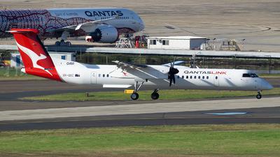A picture of VHQOC - De Havilland Canada Dash 8400 - Qantas - © John Yu