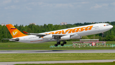 A picture of YV3507 - Airbus A340313 - Conviasa - © Alexander Belyakov