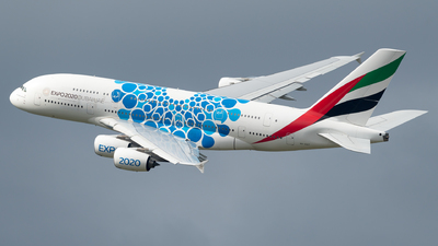 A picture of A6EOT - Airbus A380861 - Emirates - © Michael Musil