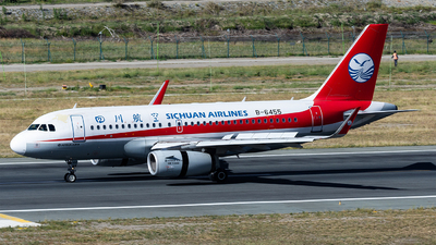 A picture of B6455 - Airbus A319133 - Sichuan Airlines - © Marcus Yu