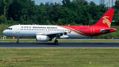 A picture of B6780 - Airbus A320232 - Shenzhen Airlines - © SunnyZUUU
