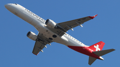 A picture of HBJVP - Embraer E190LR - Helvetic Airways - © Ferenc Kolos