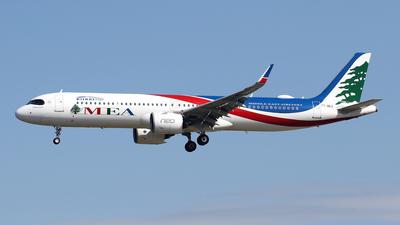 A picture of T7ME3 - Airbus A321271NX - MEA - © Javier Rodriguez - Amics de Son Sant Joan