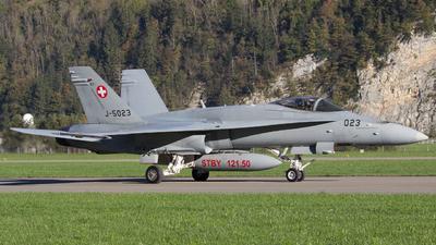 J-5023 - McDonnell Douglas F/A-18C Hornet - Switzerland - Air Force