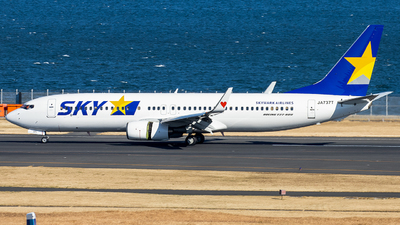JA737T - Boeing 737-8Q8 - Skymark Airlines