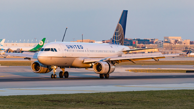 A picture of N852UA - Airbus A319131 - United Airlines - © Haocheng Fang