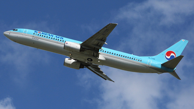 A picture of HL7725 - Boeing 7379B5 - Korean Air - © REDSOX