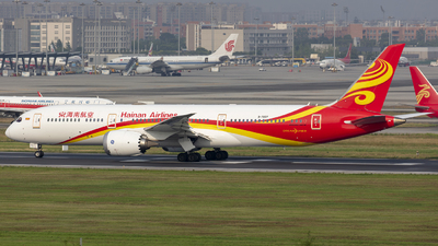 A picture of B7837 - Boeing 7879 Dreamliner - Hainan Airlines - © Eric Wang