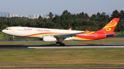 A picture of B1096 - Airbus A330343 - Hainan Airlines - © Jack Green