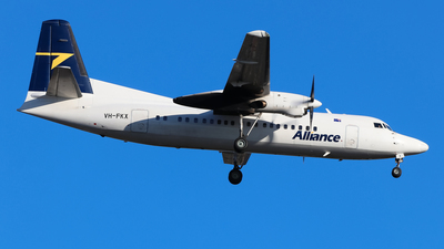 A picture of VHFKX - Fokker 50 - Alliance Airlines - © ZRY246