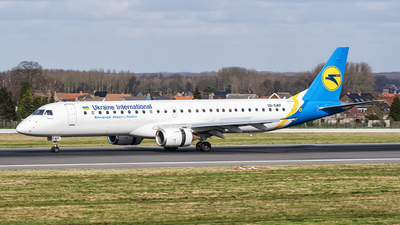 A picture of UREMF - Embraer E195LR - Ukraine Int. Airlines - © Wesley Herrebrugh