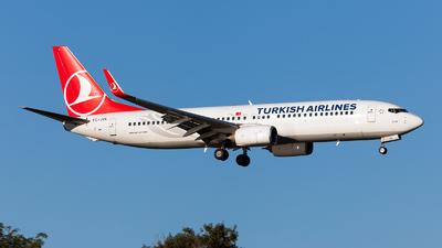 A picture of TCJVL - Boeing 7378F2 - Turkish Airlines - © Fabrizio Gandolfo
