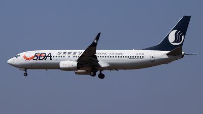 A picture of B5543 - Boeing 73786N - Shandong Airlines - © Carlos Hu