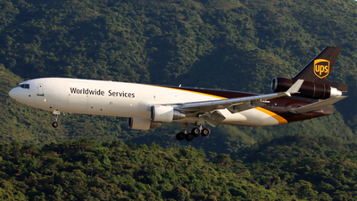 A picture of N286UP - McDonnell Douglas MD11F - UPS - © Jubilant Chan - AHKGAP
