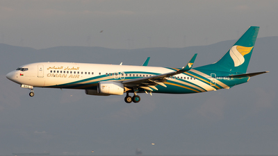 A picture of A4OBAG - Boeing 7378SH - Oman Air - © Alexandre Fazan
