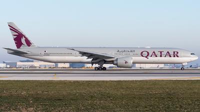 A picture of A7BAM - Boeing 7773DZ(ER) - Qatar Airways - © bill wang