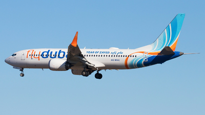 A picture of A6MAX - Boeing 737 MAX 8 - FlyDubai - © Oleksandr Smerychansky