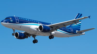 A picture of 4KAZ77 - Airbus A320214 - Azerbaijan Airlines - © RJL