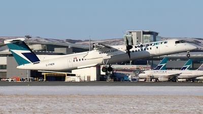 A picture of CFNEN - De Havilland Canada Dash 8400 - WestJet - © GN