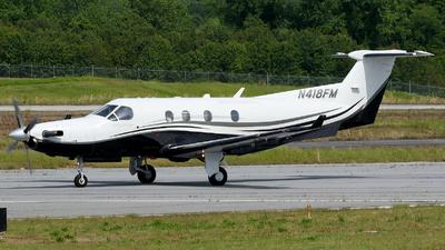 N418FM - Pilatus PC-12/45 - Private
