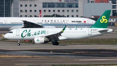 A picture of B8347 - Airbus A320214 - Spring Airlines - © Lazy Clutch